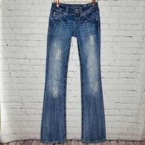 Miss Me Boot Cut Med Wash Jeans Size 25